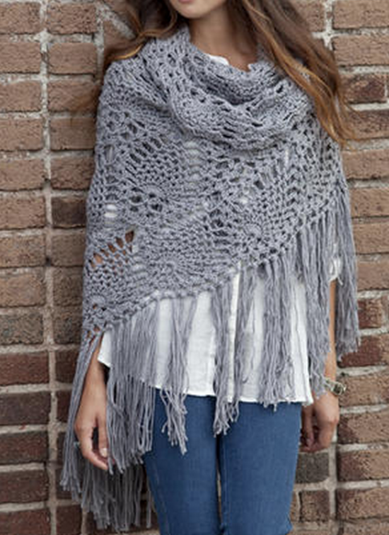 Crochet Lace Jacket Free Pattern Ideas Galore   Chal de ganchillo ...