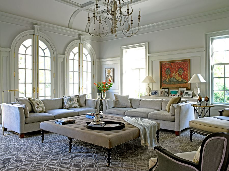 stunning elegant living room georgian   That Ceiling! Those Windows!! ~ Douglas VanderHorn ...
