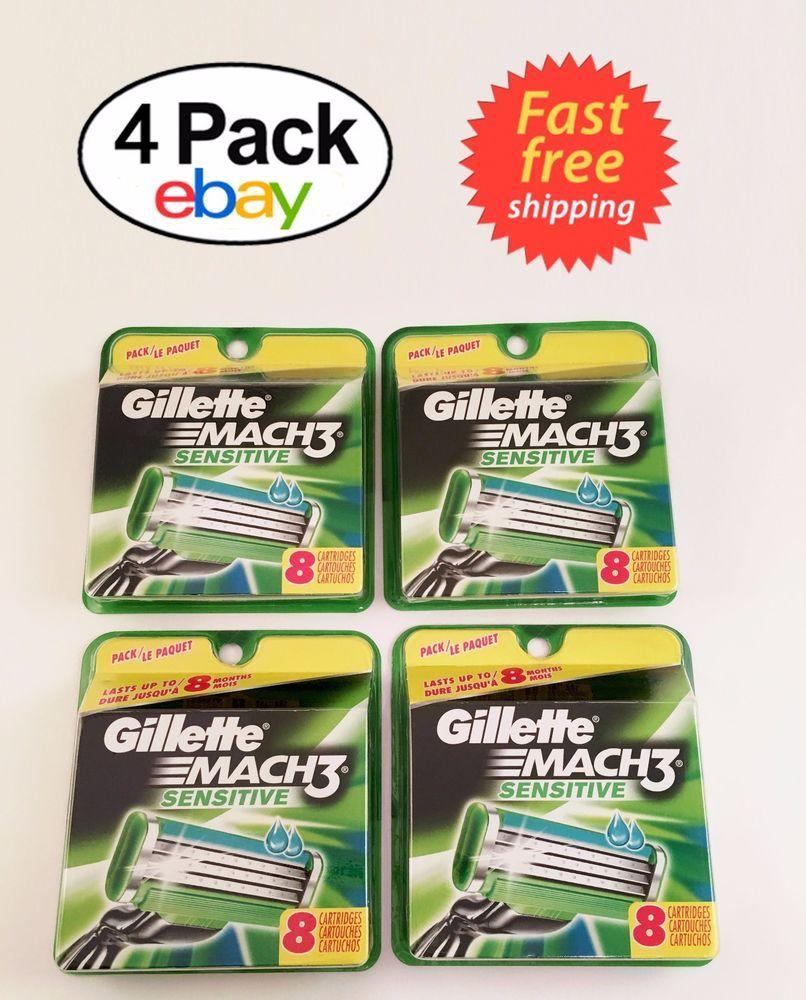 Gillette Mach3 Sensative Razor Blades 32 Cartridges