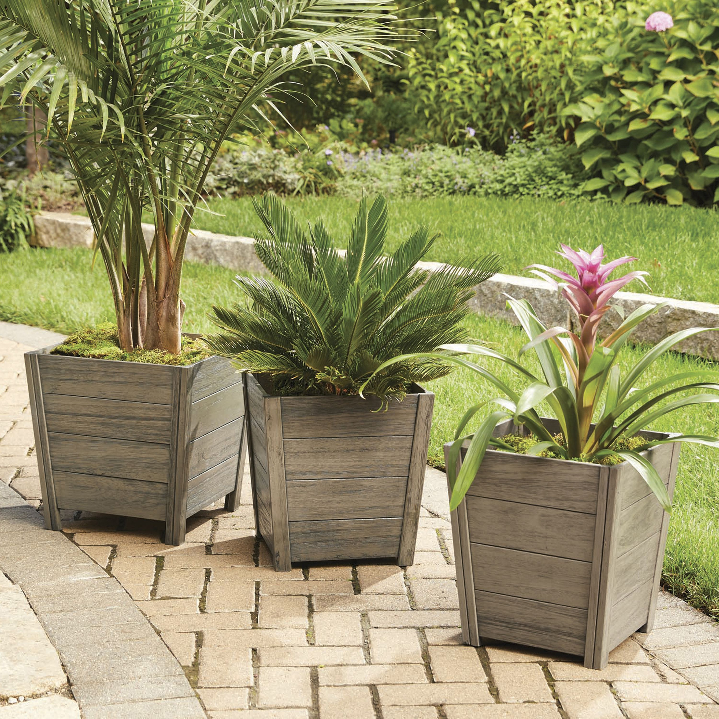 Better homes and gardens cane bay outdoor planter large