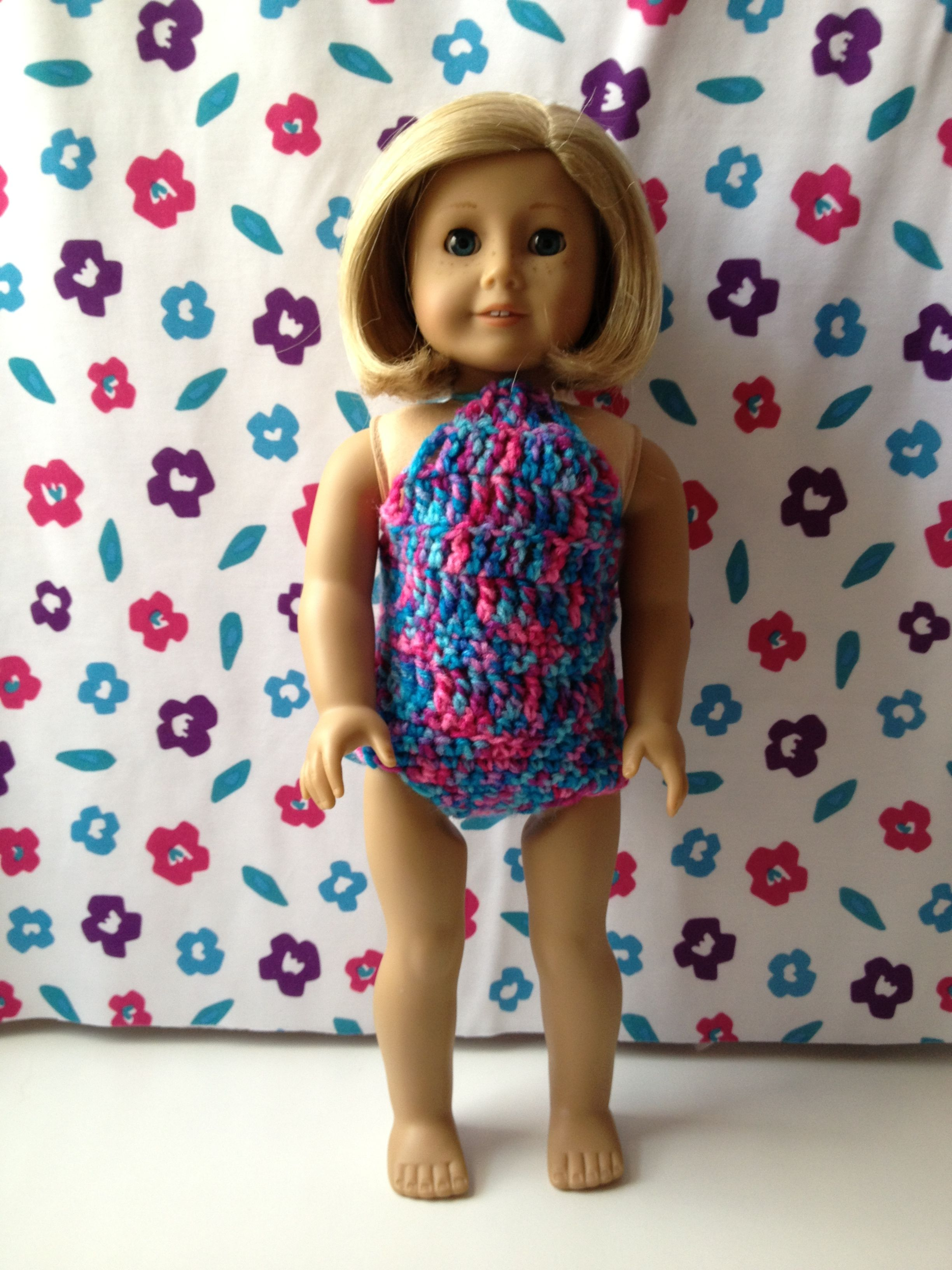 18 inch doll crocheted swimsuit. | Beach Wear in Crochet | Pinterest ...