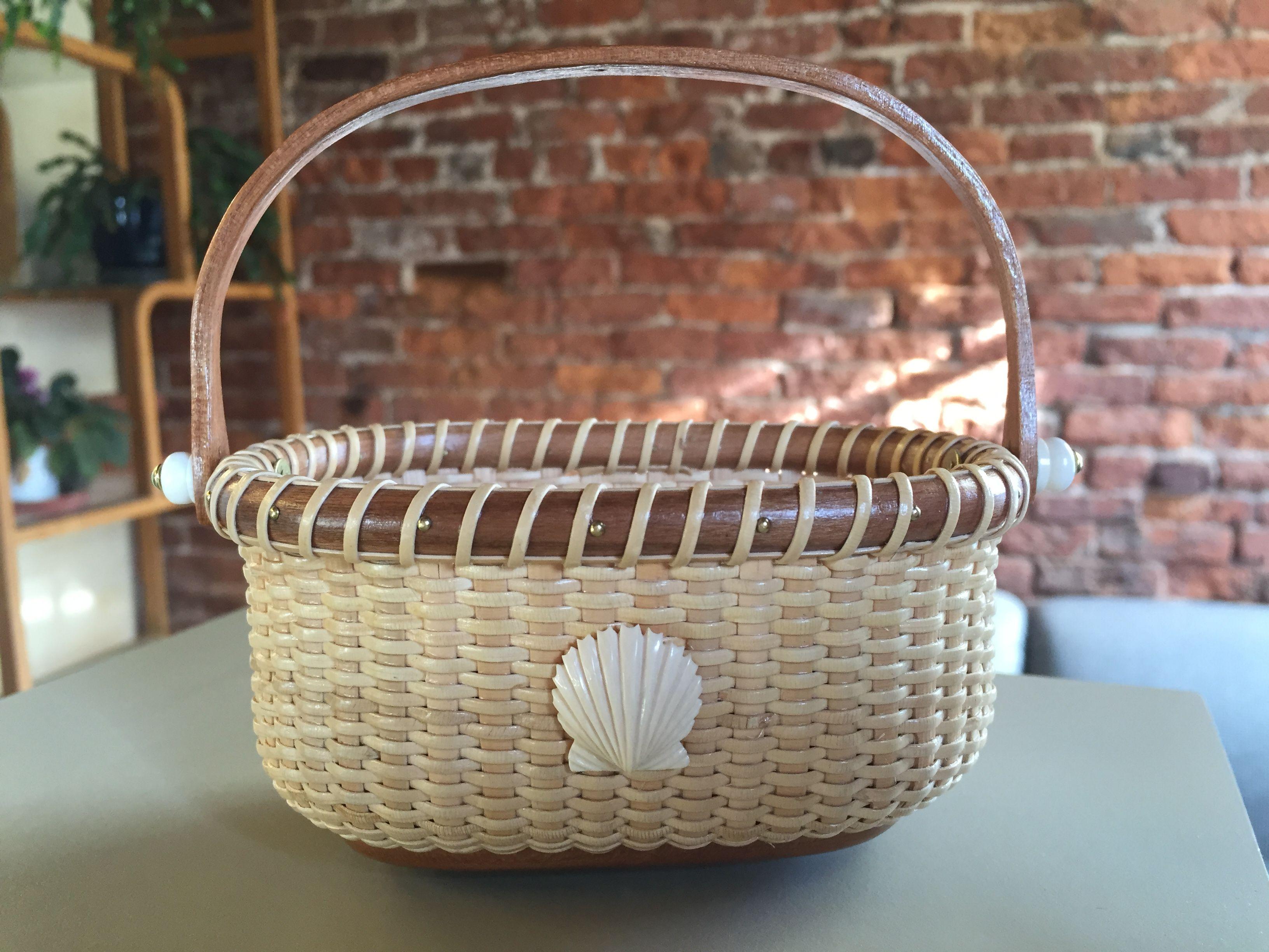 Handmade Nantucket Lightship basket~business card holder ...