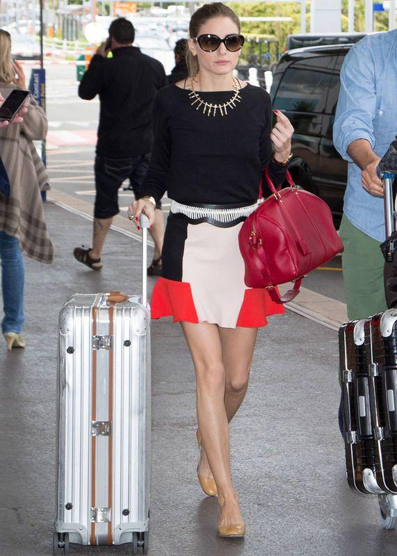Olivia Palermo: fotos look chic con falda de Zara en NY
