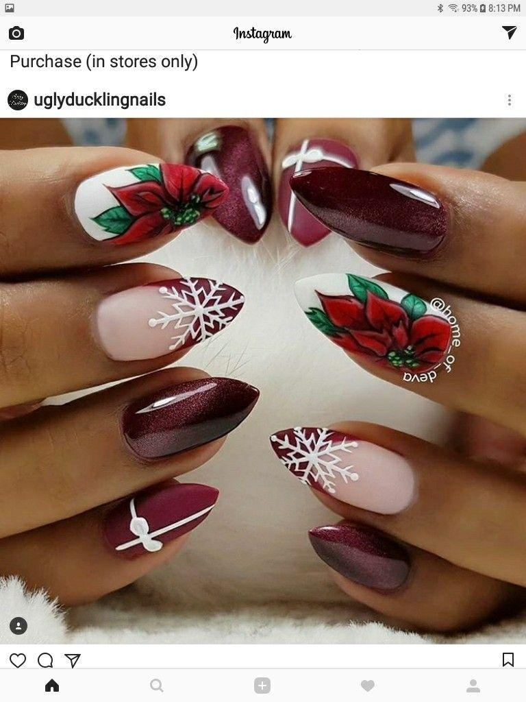 Pin by Andrea Kadar on nails stiletto | Pinterest | Xmas nails ...