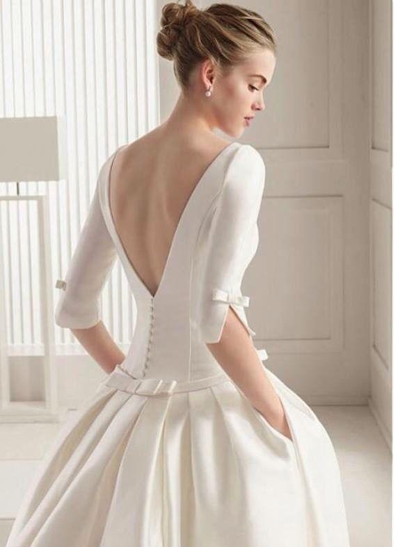Elegante vestido de boda