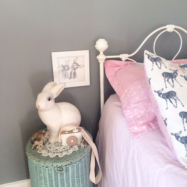 Pretty bedside table, little girl's room