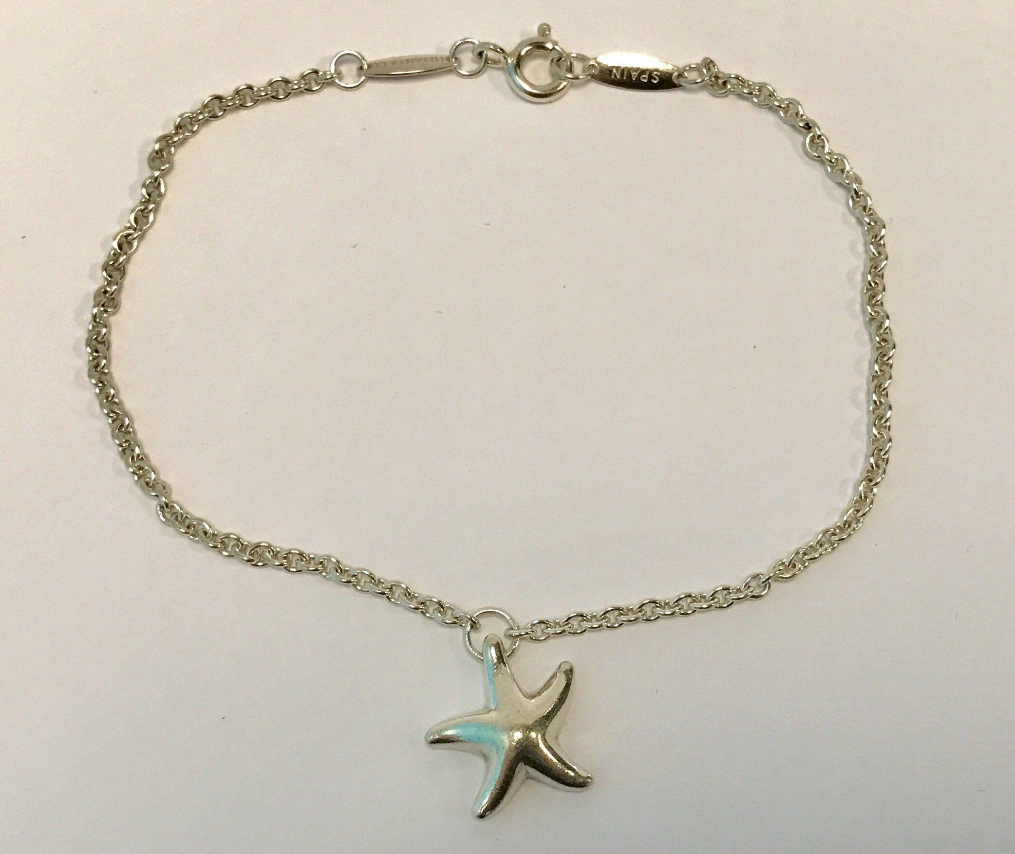 8d1cbfef0 Tiffany & Co Sterling Silver Elsa Peretti Starfish Bracelet ...