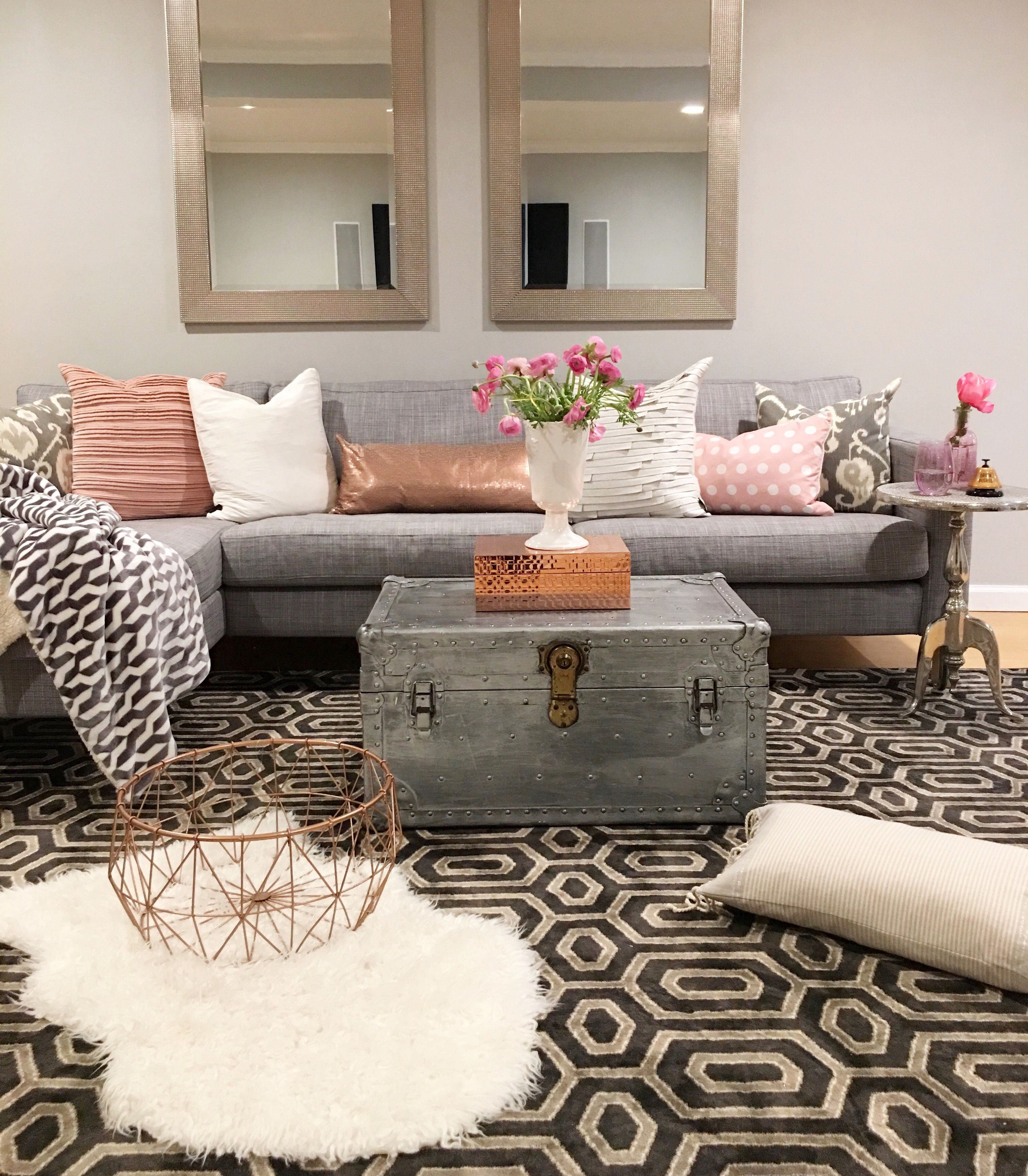 Crazy Chic Design Modern Boho Basement
