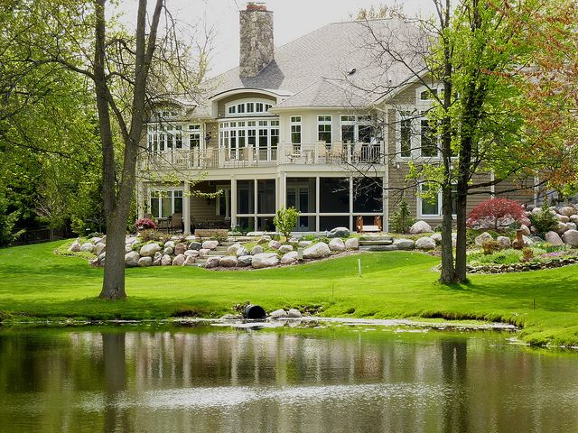watermark home on pond west mi golf home house styles house. Black Bedroom Furniture Sets. Home Design Ideas