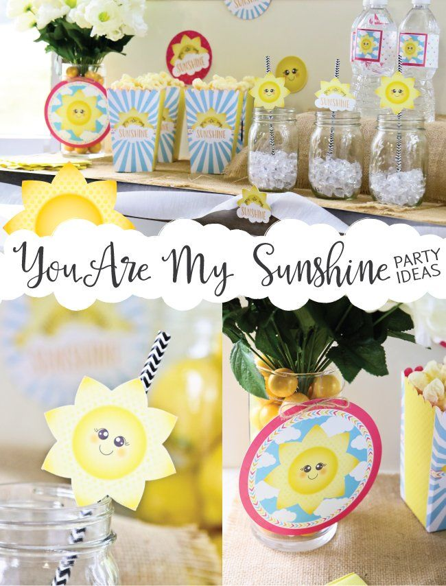 You Are My Sunshine Party Ideas  Big Dot Of Happiness  Sunshine