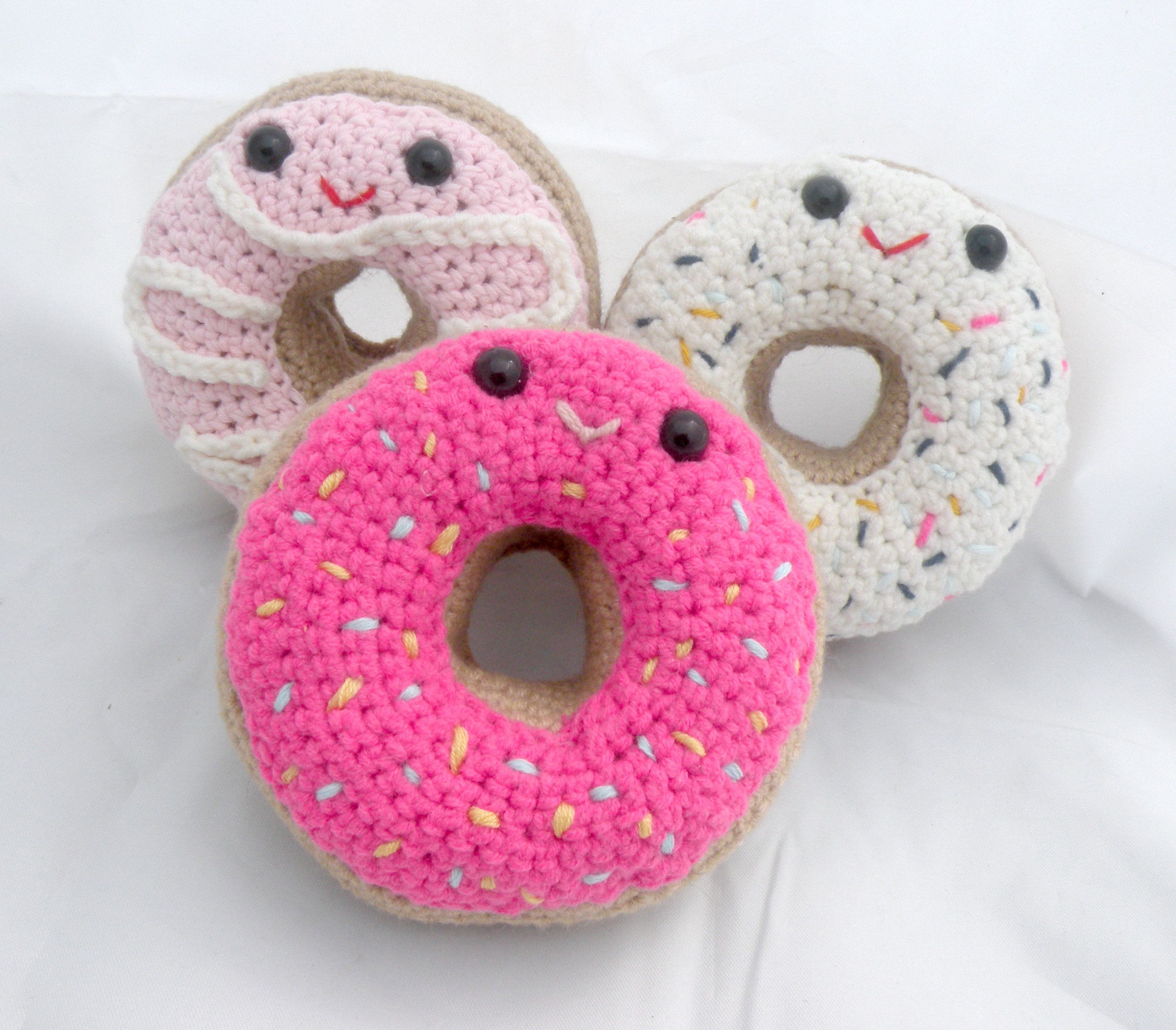 gift Donuts crocheted dinette child/'s toy