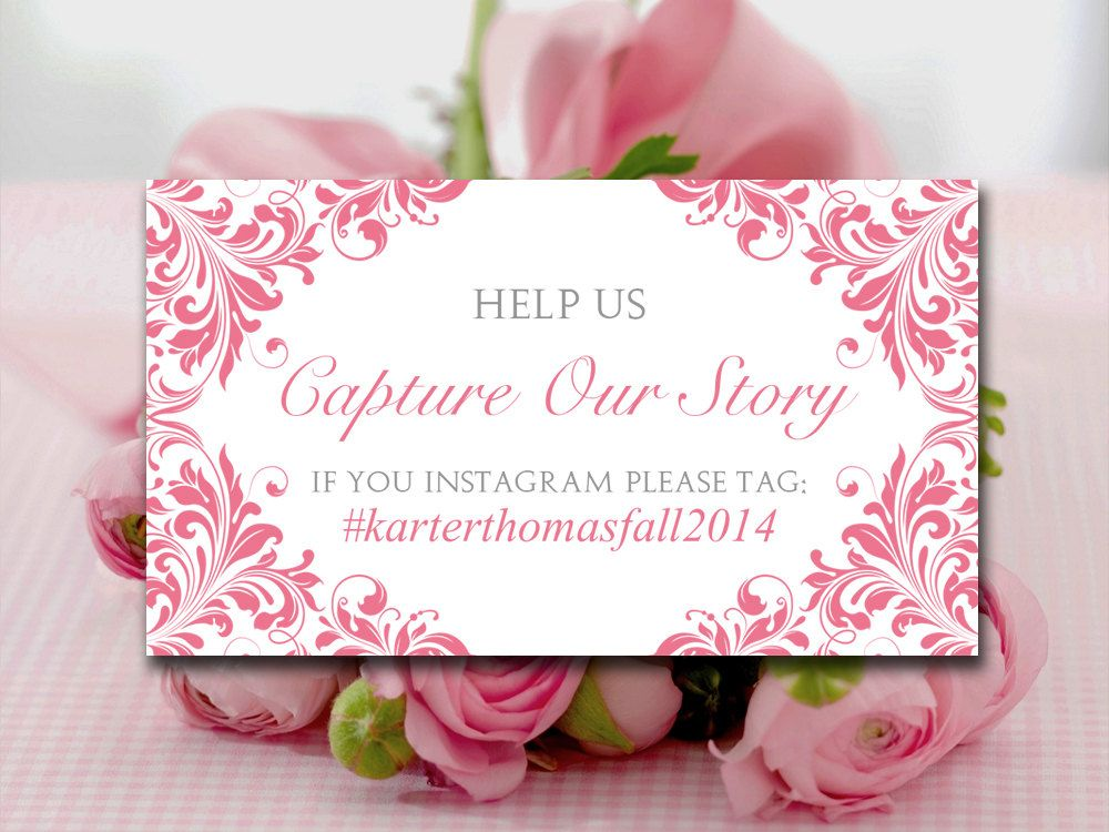 wedding instagram place cards template  wedding hashtag