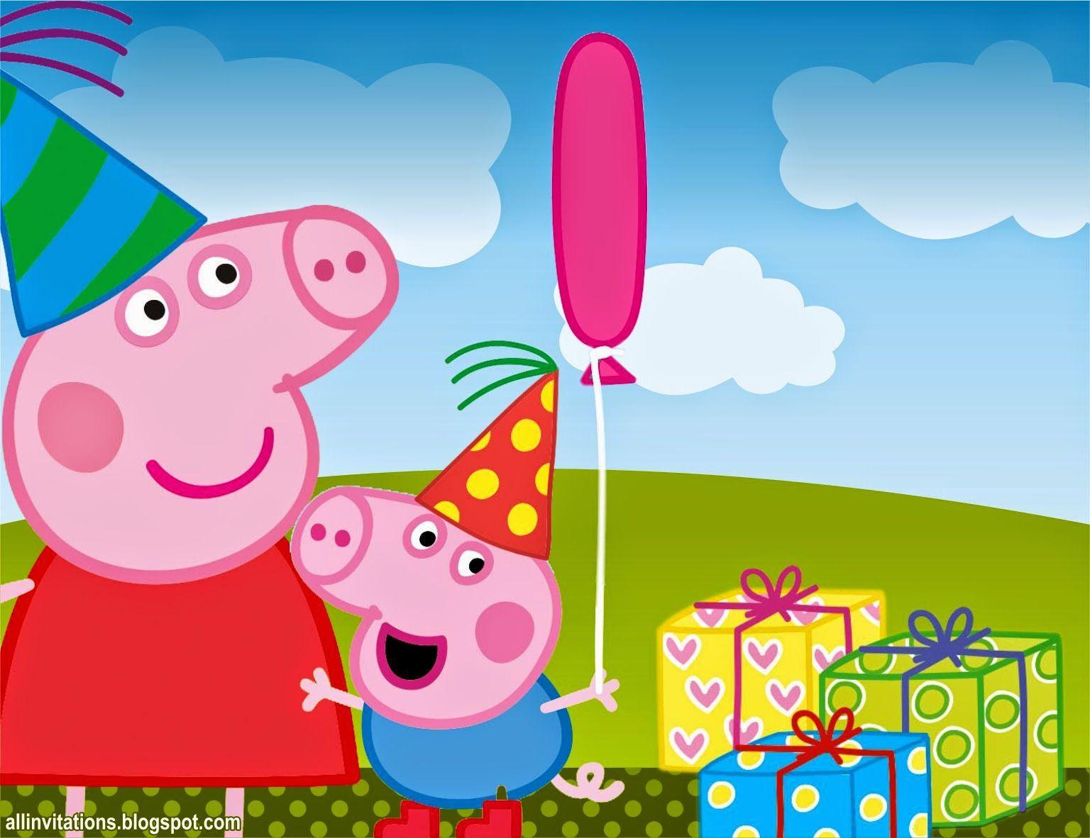 Открытка пеппа с днем рождения, аниме открытки поздравление