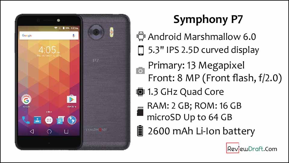 Symphony P7 Price In Bangladesh Full Specification Review Draft Phone Symphony Android Marshmallow