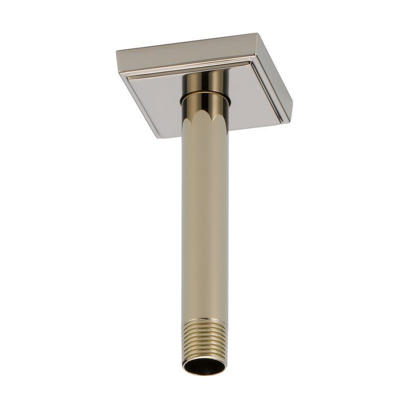 """Brizo RP70764 6"""" Ceiling Mounted Shower Arm and Flange Brilliance Polished Nickel Shower Accessories Shower Arms Ceiling"""