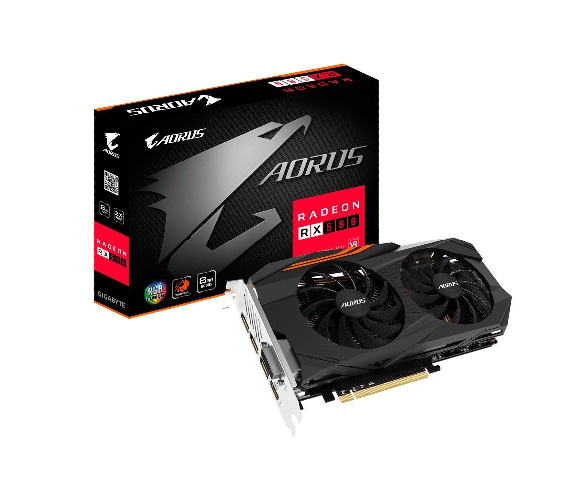 Gigabyte Aorus Radeon Rx 580 8gb Graphic Cards Gv Rx580aorus 8gd Razer Tactical Bag Rc21 00720101 0000