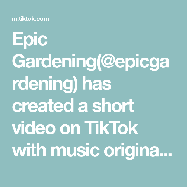 Epic Gardening Epicgardening Has Created A Short Video On Tiktok With Music Original Sound How To Make Your Basil Grow Psychology Facts Music The Originals