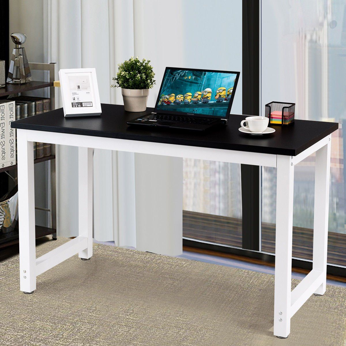 Portable Wood Computer Desk PC Laptop Table Workstation Home Office Furniture