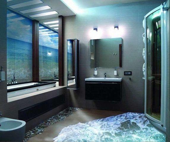3D пол в ванной