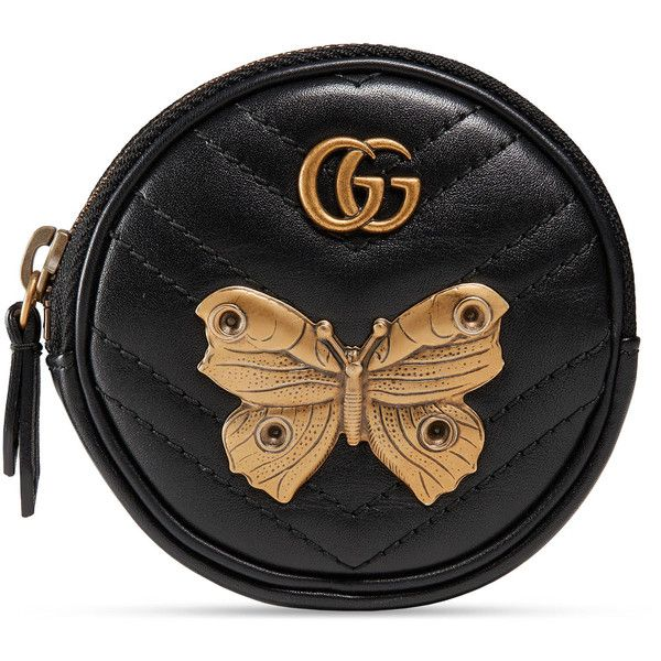 efbbe9e2f6b8 Gucci Gg Marmont Animal Studs Wrist Pouch ($365) ❤ liked on Polyvore  featuring bags, accessories, wallets & small accessories, women, zip pouch  bags, ...