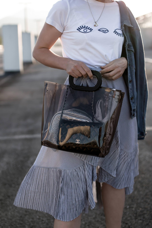 0e94ac95526a0 Transparente Tasche  So trage ich die neue It-Bag im Alltag! + ...