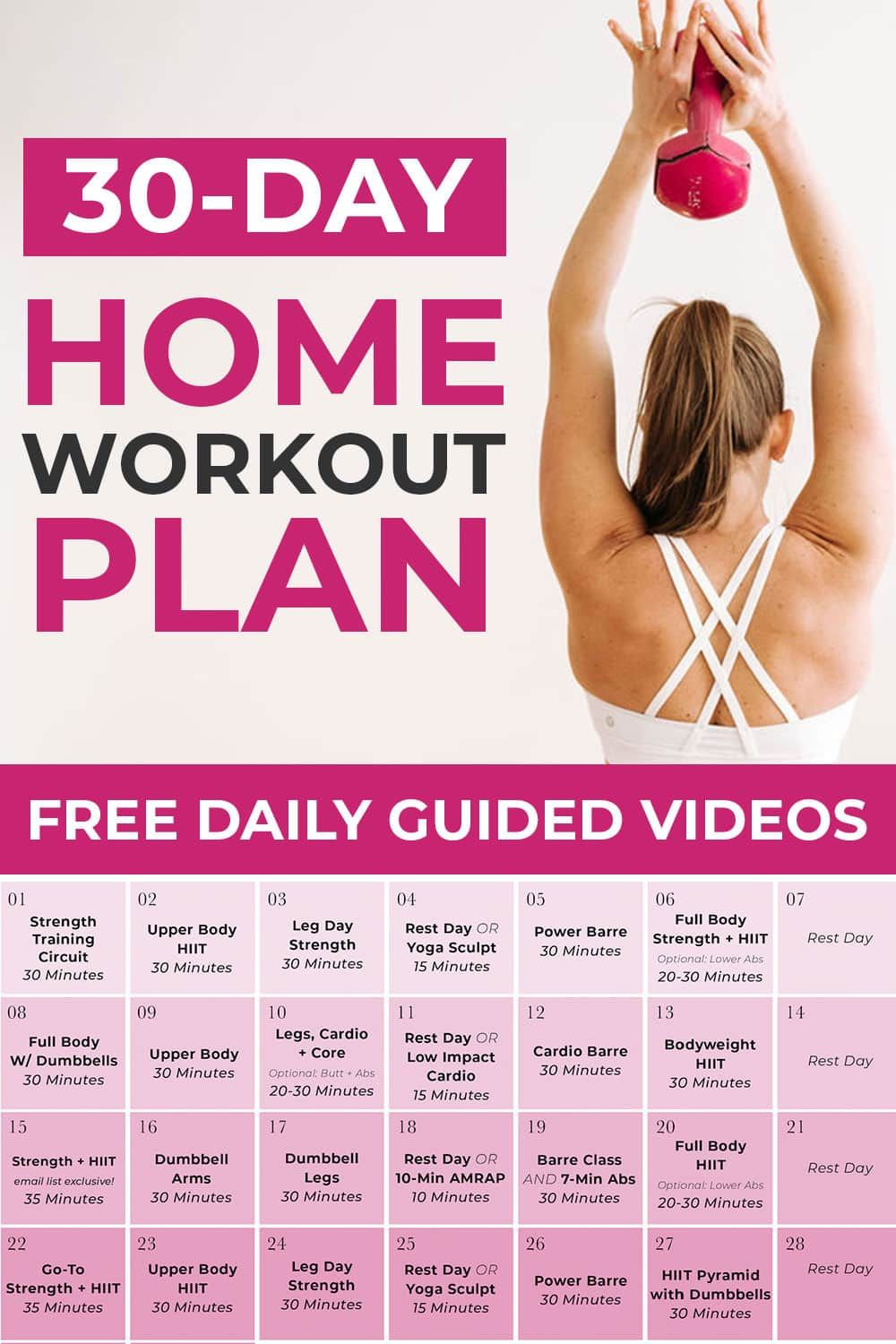 30-Day Home Workout Plan For Women   Nourish Move Love in ...
