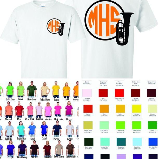 5508643f9f1ef Baritone/Euphonium Monogram Tshirt - $16.00   Marching Band Shirts ...