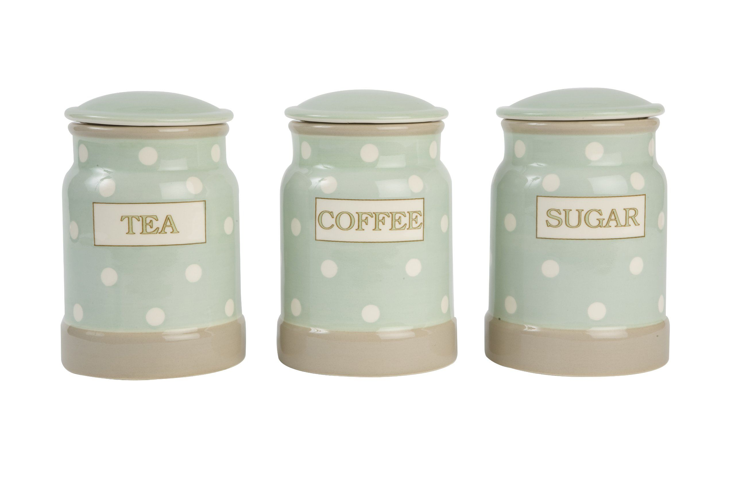 T G Cream Country Tea Coffee Sugar Storage Canisters