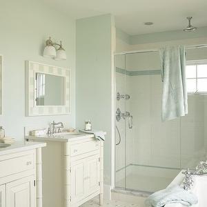 martha stewart bathroom paint color ideas Seafoam Blue Paint Colors, Cottage, bathroom, Martha Stewart Araucana Blue, Tracey Rapisardi