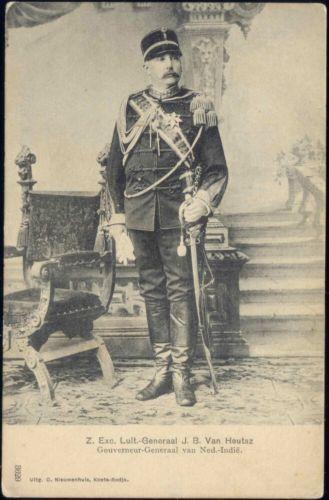 Indonesia Dutch Governor Gener Al Van Heutsz In Uniform Ca 1899 Knil Indonesia Sketsa