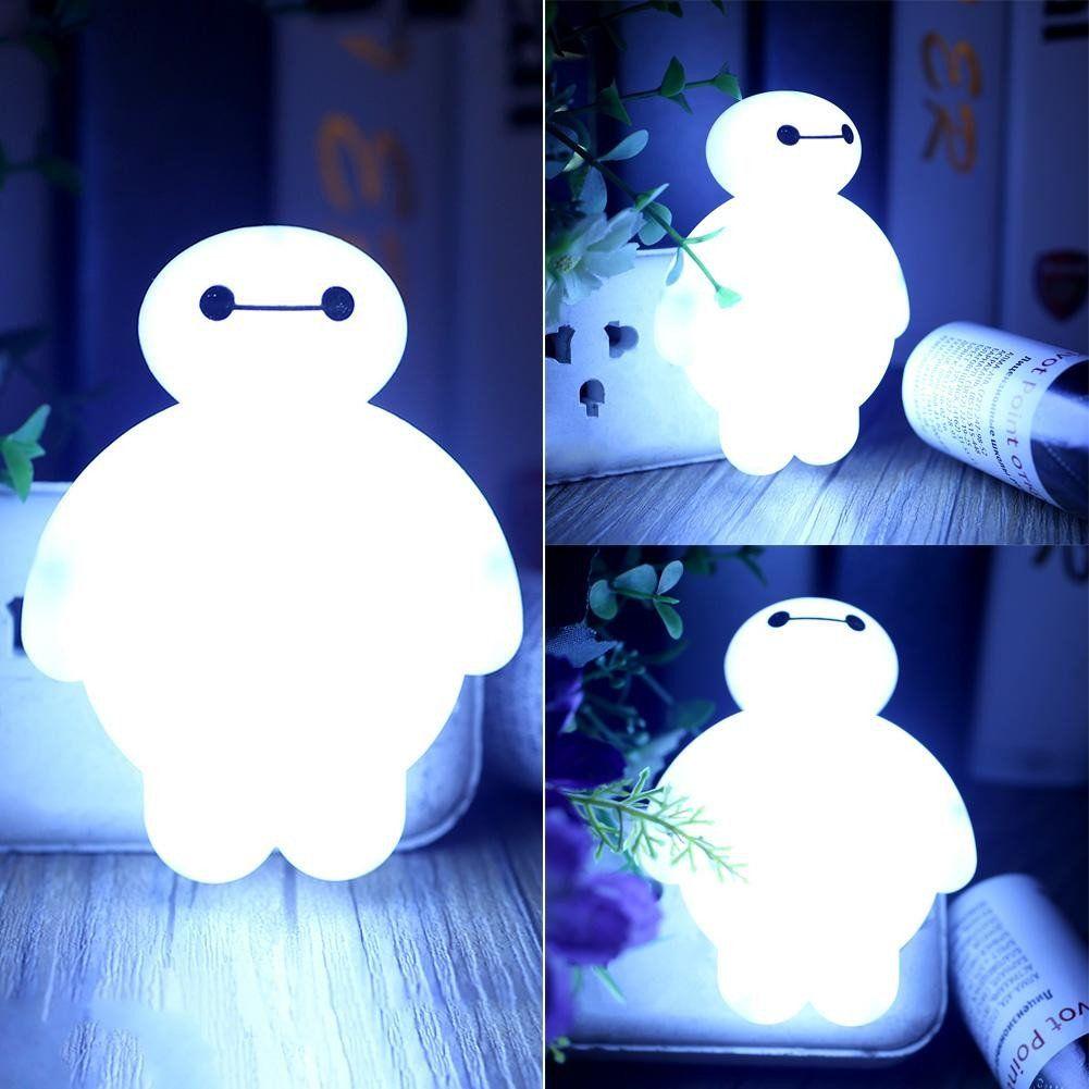 Baymax Sensor Led Night Light Bedroom Bulb Energy Saving Cute Lamp Dec Gifts Leads