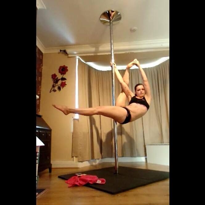 Balls of Steel pole move #poledancing #polefitness #invertedcrucifix #sport #fitness #fitnessfun #exercise #polemove #ballsofsteel