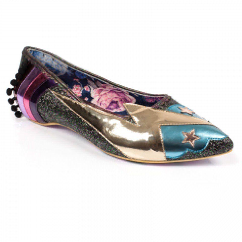 A Pink Glitter Slip On Flat Irregular Choice Ground Control Low Heel Shoes