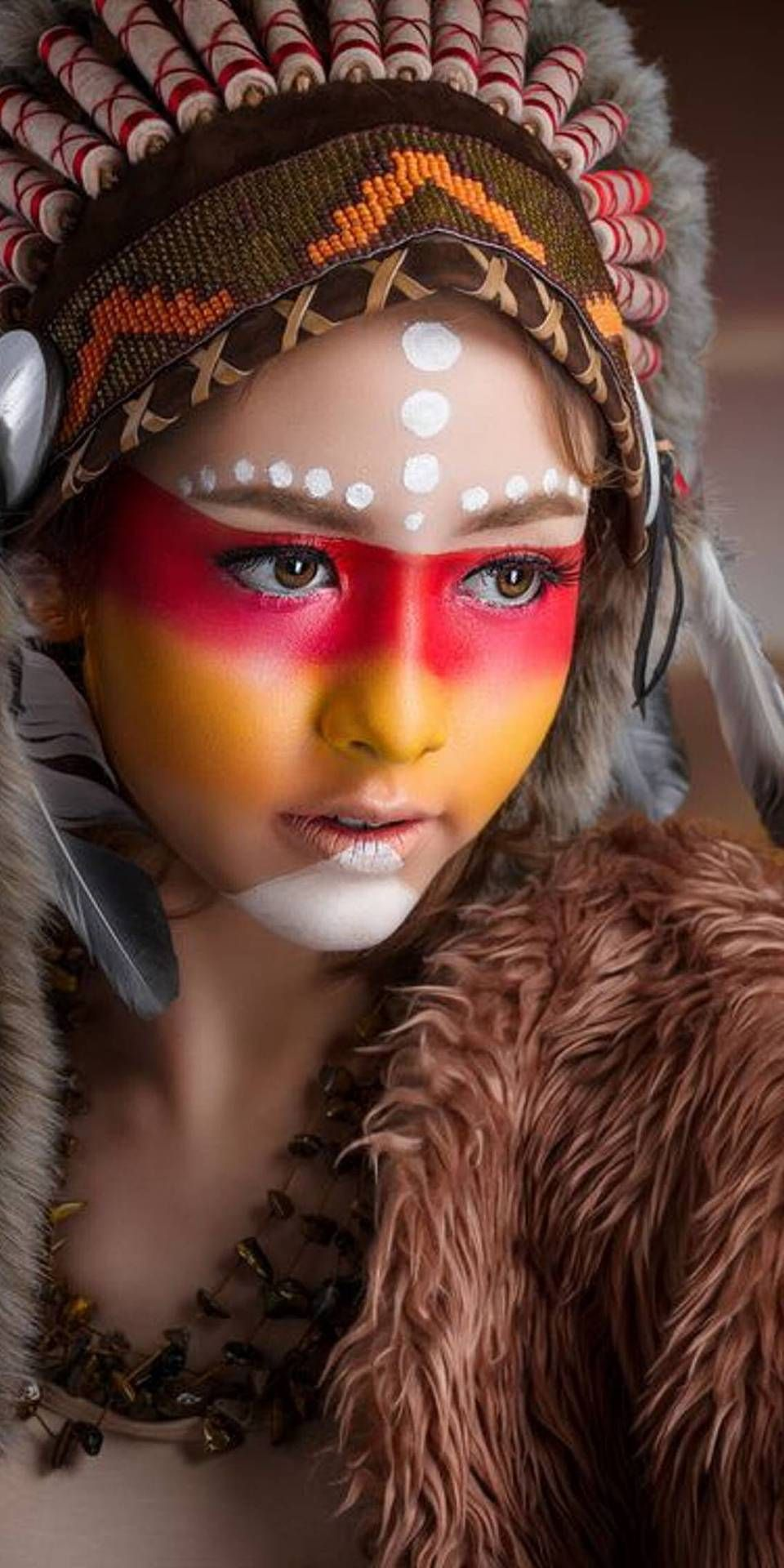 modern native photo image by Scott Ray Tribal makeup