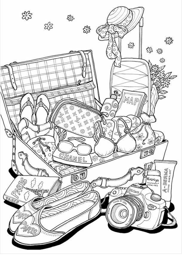 Travel Coloring Page Coloring Books Cool Coloring Pages