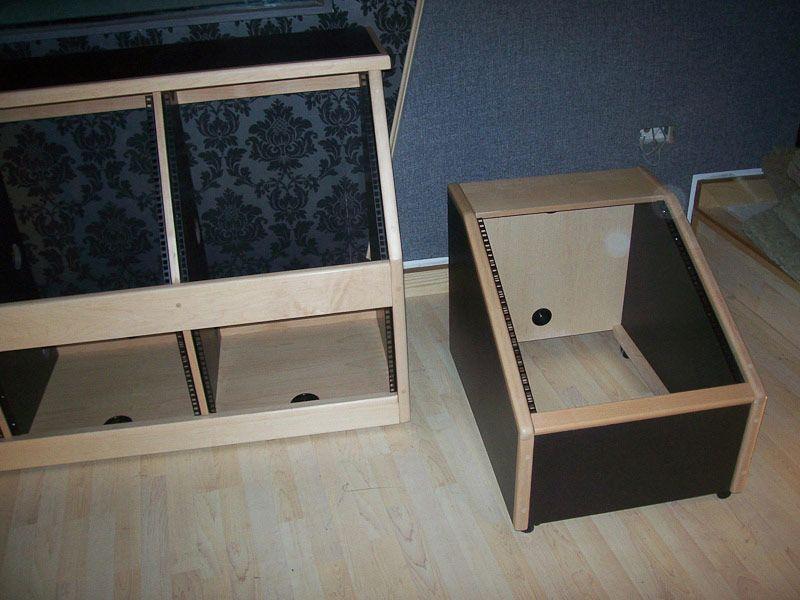 Black custom 19 studio racks recording studio equipment