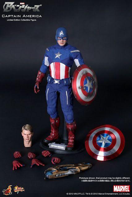 Hot Toys The Avengers CAPTAIN AMERICA Figure 1//6 ALIEN WEAPON