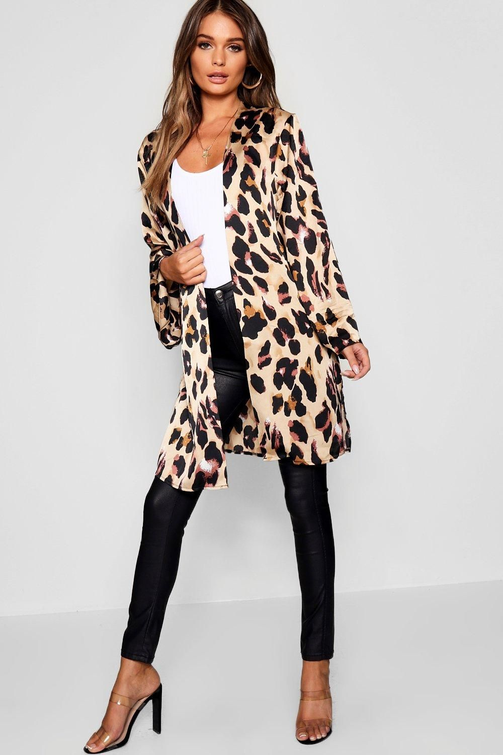 914adfae68ffb Click here to find out about the Leopard Satin Kimono from Boohoo, part of  our latest Coats & Jackets collection ready to shop online today!