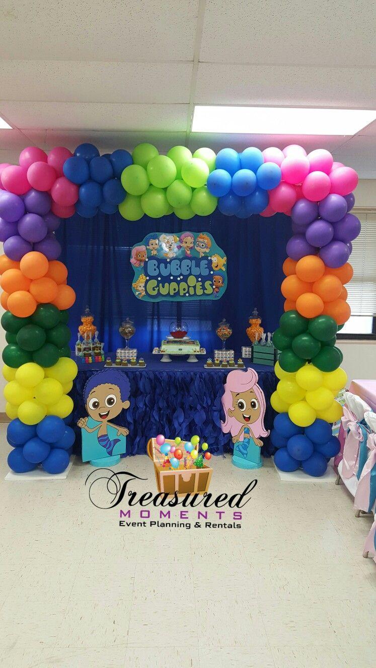 Rileys 1st Birthday Bubble Guppies Theme Bubble Guppies Birthday Party Bubble Birthday Parties Bubble Birthday