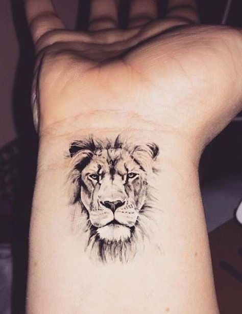 Little Lion Head Wrist Tattoo Wrist Tattoos For Guys Cool Wrist Tattoos Tattoos