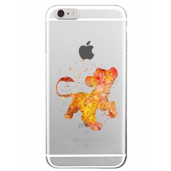 Disney Aquarelle The Lion King Simba Flying Iphone Case Free