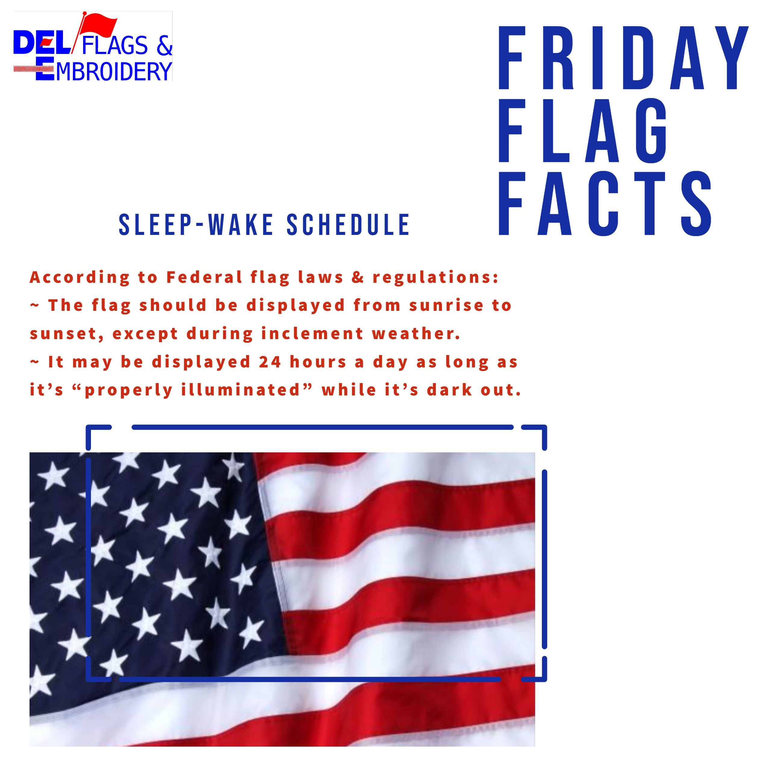 Friday Flag Facts In 2020 Flag Embroidery Flag Respect The Flag