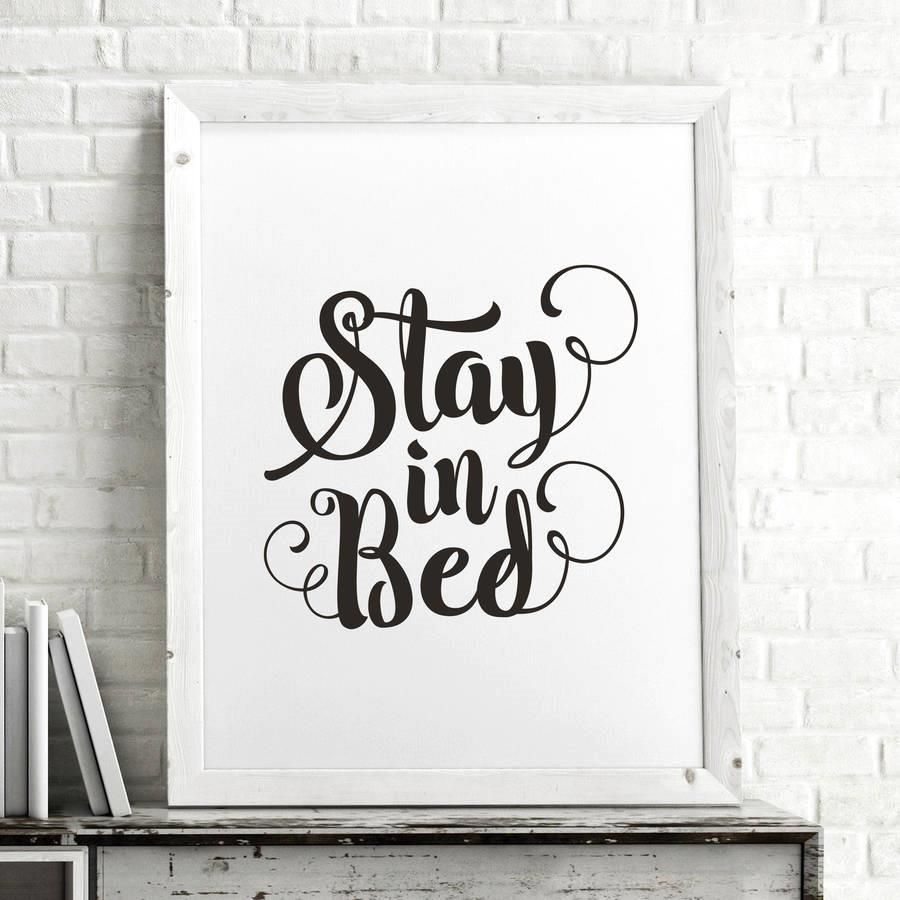 Stay in bed azondpbmzsui motivational poster