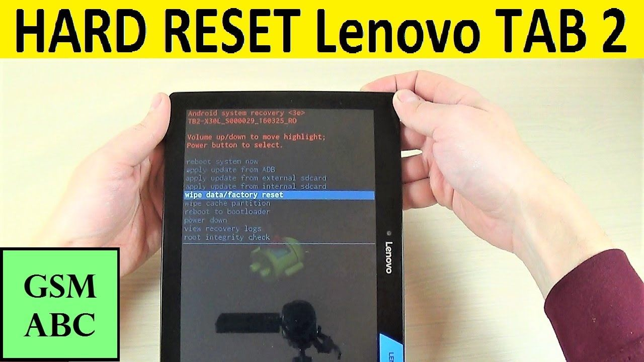 HARD RESET Lenovo TAB 2 A1030 How to Tips and Tricks