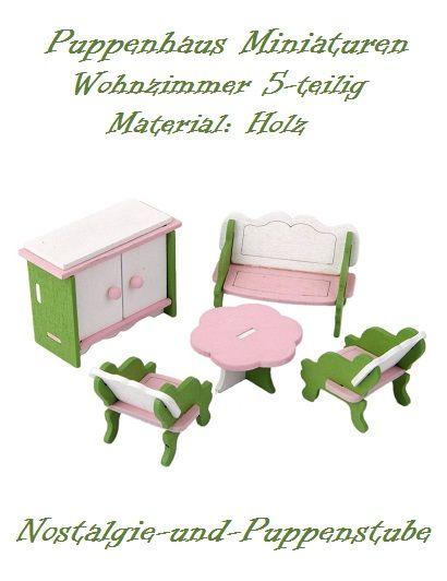 Puppenhaus Zubehör Möbel Miniaturen Holz Wohnzimmer 5 Tlg. 8126 | Alles  Fürs Puppenhaus | Pinterest