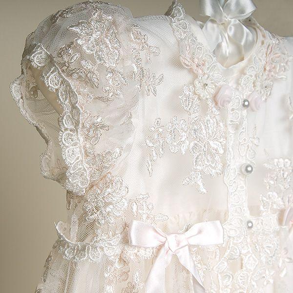 Penelope Heirloom Lace Christening Gown Sleeve Penelope