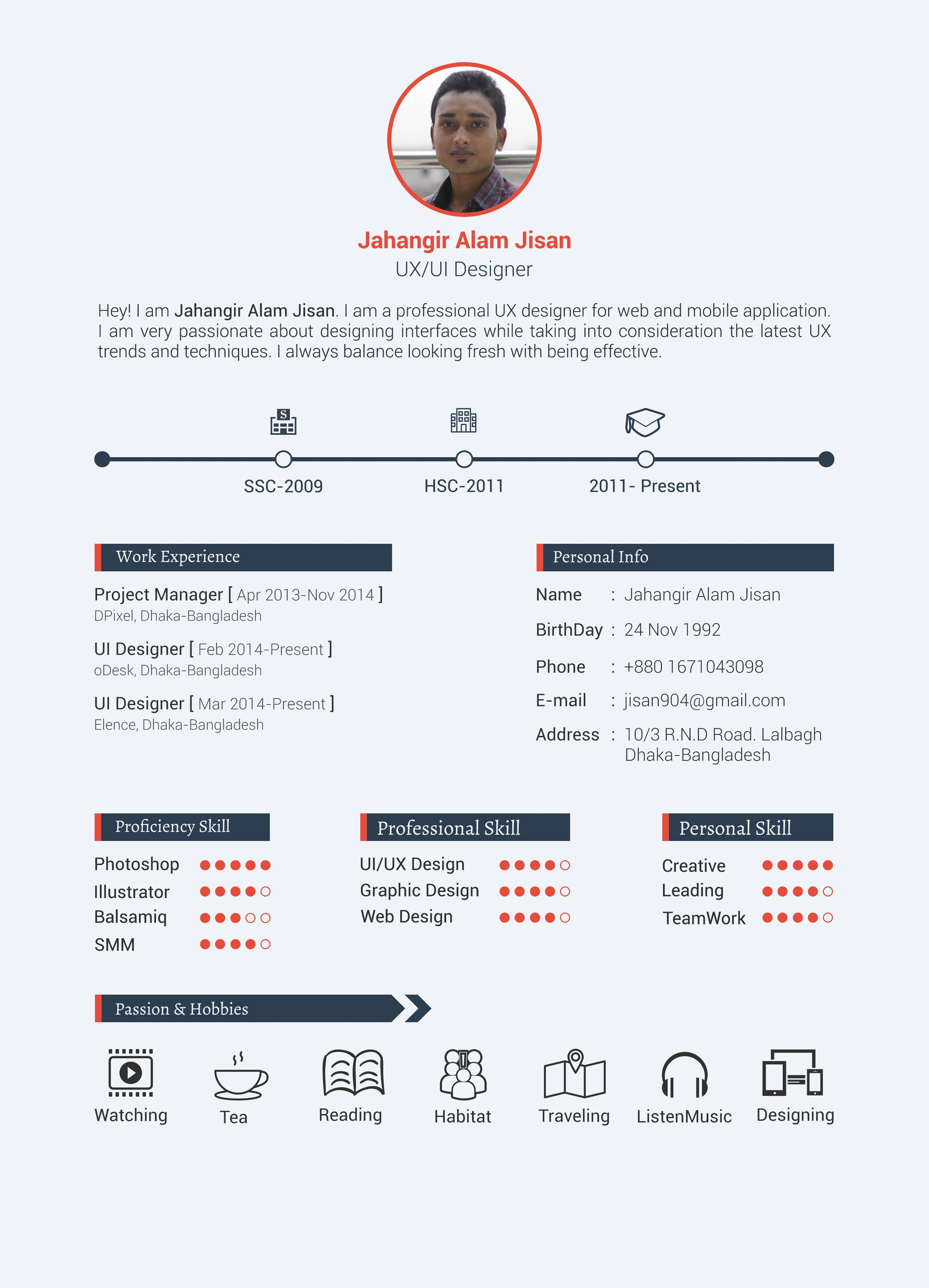 example 13 - I will design Resume, awesome Cv for you for $5 https ...