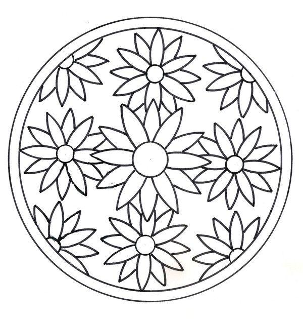 coloriage mandalas mandala pinterest mandalas