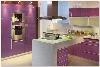 Cocina morada ideas para cocina pinterest cocinas for Pintura color berenjena