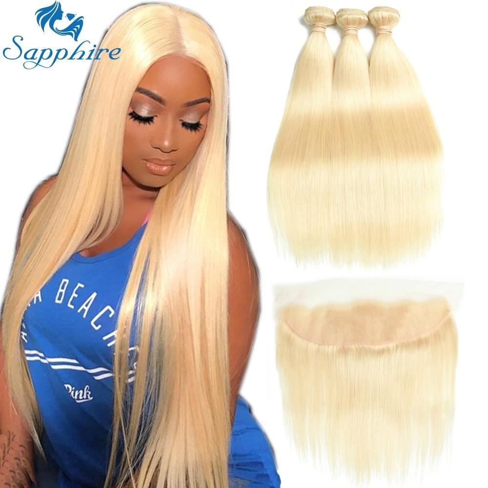 Sapphire Brazilian Hair Weave Bundles 613 Blonde Bundles